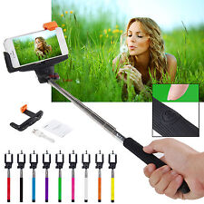 Extendable Handheld Selfie Stick Shutter For Smartphone iPhone Samsung HTC Phone