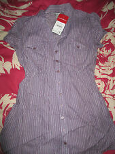LADIES CLOCKHOUSE LOVELY SHORT SLEEVE PURPLE STRIPE BLOUSE.SIZES 8*10*12*14*16