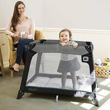 Portable Baby Crib Playard Bassinet Bed Automatic Folding Catch Nap Cage  Travel