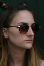 400UV-Ray protection! engraved gold arms sunglasses vtg 50s ladies@ban_that_sun