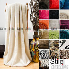 Large Luxury Soft Mink Faux Fur Throw Blanket - for Bed Sofa Home Double King