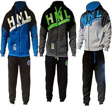 KIDS MENS FLEECE JOGGING HOODED TRACKSUIT BOTTOMS TROUSERS 7/8 TO 13 S M L XL