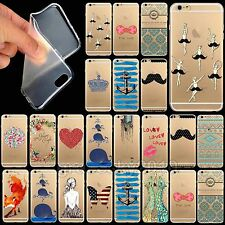 Ultrathin Design Painted Transparent TPU Case Cover for iPhone 5 5s 4 4s 6 New