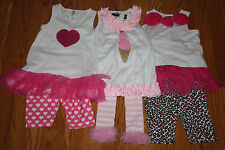 NWT Girls MUD PIE Sets Heart Ice Cream Animal Print 18 Mo 24 Mo 3T 4T  5T