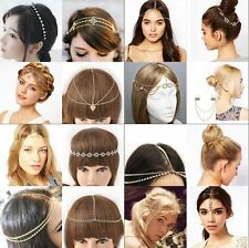 Fashion Metal Rhinestone Head Chain Headband Head Piece Hair band Accessories