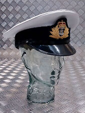 Genuine British Royal Navy Officers / CPO / PO Peaked Dress Cap/Hat - All sizes