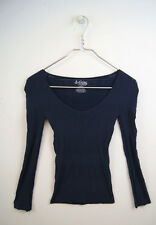 NEW Free People Intimately Seamless Navy LongSleeve Mesh Top Size XS/S-M/L $68
