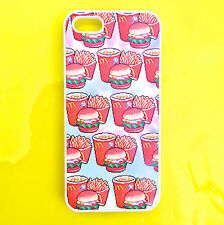 PIXELATED MCDONALDS TIE DYE iPhone 6 5 5s 5C 4 4S Phone Cover HARD CASE WHITE