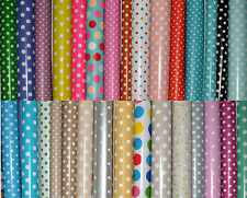 Polka dots - Wipe Clean PVC Vinyl Tablecloth Oilcloth 140cm wide