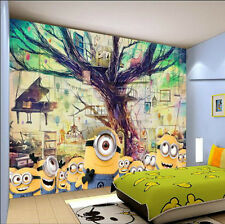 Large Murals  Cartoon Yellow People 3 D Visual Wall Paper  Home Decor Wall Mural