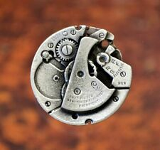 2 Steampunk Watch Gear Pewter Shank Buttons 1 Inch (25 mm) #1066