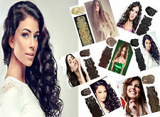 7Pcs Clip in Remy Human Hair Extensions Body Wavy Hair 20Inch More Colors 70gram