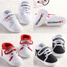 LOVE PAPA&MAMA Newborn-18 Months Baby Crib Shoes Sneakers Infant Prewalker #BU57