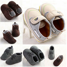 3 Sizes Non-slip Baby Boy Girl Shoe Ankle Boots Toddler Infant 0-18 Months #BU66