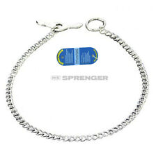 NEW TOGGLE Sprenger Dog Chain Check Collar Choker Chrome Plated Round Narrow 3mm