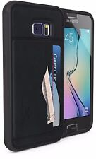 GHOSTEK® STASH SLIM LUXURY LEATHER CREDIT CARD WALLET CASE FOR SAMSUNG GALAXY S6