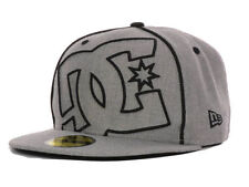 DC Shoes Skateboarding Coverage II New Era Fitted Cap Hat Gray White $35