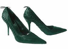 """Sz 6M Anne Michelle """"Chrome 53"""" Emerald Green Embellished Women's Pump Shoes NEW"""