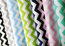 """Chevron Zig Zag 100% Cotton Fabric Material -Wide 160 cm (64"""") By the Metre"""