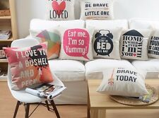Quotes Words brave loved yummy triangles Cushion Cover Throw Pillow Case