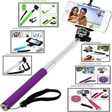 MONOPOD SELFIE STICK TELESCOPIC HANDLE+REMOTE SHUTTER FOR LATEST MOBILE PHONES