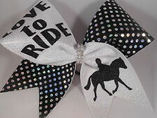 LOVE to RIDE Cheer Bow by BlingItOnCheerBowz