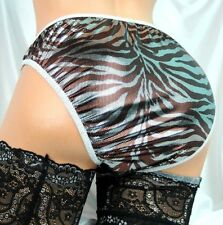 Adult Chocolate Snake FOIL SISSY SHINY high gloss Mens lined panties S M L XL