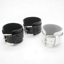 Male Leather Bracelets Surfer Wristband Black White Brown Mod Nevadaa 5 cm width