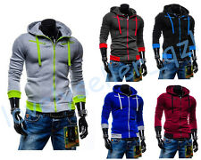 Hot Men Casual Pullover Hoodie Zipper Coat Sweatshirt Slim Hooded Jacket sweater