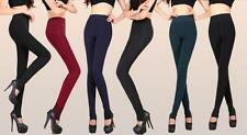 Warm Winter Thick Skinny Slim Open Toe Footless Leggings Stretchy Pants One Size