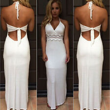Lace White Beach Party Dress Bandage Cocktail Prom Maxi Dresses Online