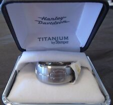 Harley-Davidson Men's Bar & Shield with Barbed Wire Ring by Stamper