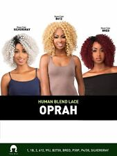 LH OPRAH - THE WIG BRAZILIAN HUMAN HAIR BLEND INVISIBLE PART LACE FRONT WIG