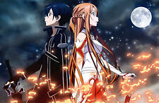 Big A2 / A3 / A4 asuna kirito sword art online Japanese Anime Poster-buy2get1free!