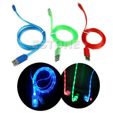 LED Light Micro USB Charge Data Sync Cable For Samsung Galaxy S4 S3 S2 HTC LG