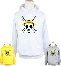 Cartoon One Piece Flag Symbol Skull Jumpers Sweatshirt Boy's Girl's Hoodie Tops