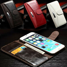 For iPhone 6 & 6 Plus iPhone 4S 4 5S 5 Case Flip Leather Stand Wallet Cover NEW