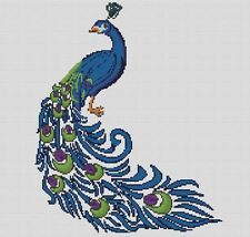 Counted Cross Stitch Pattern or Kit, Animal, Peacock