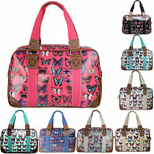 Large Butterfly Maternity Weekend Overnight School Bag Travel Hand Luggage