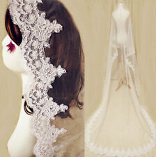 Cathedral Bridal Veil Ivory white lace chapel veil 2015 new high-quality veil