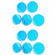 Blue Tinted Circle Mirrors (Round 3mm Acrylic Mirrors, Several Sizes Available)