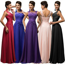 CHEAP~ Vintage Long Chiffon Ball Gown Evening Formal Prom Bridesmaid Dress 6-20