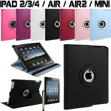 Cover Custodia in Pelle iPad 2/3/4/5 Air Mini Rotazione 360 + Pennino+Pellicola