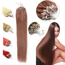 Easy Loop Micro Ring Beads Tip 100% Brazilian Remy Human Hair Extensions18''100S