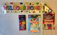 WELCOME HOME Banner & Balloons  Combinations