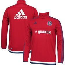 adidas Chicago Fire MLS 2014 - 2015 Official Long Sleeve Soccer Training Top Red