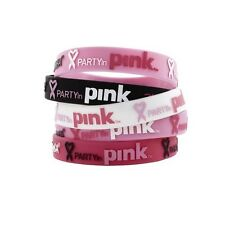Authentic Zumba Party in Pink Groove for Cure Bracelets Lot  20, 40, or 100 pack