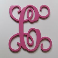 "Painted 15"" Large Individual Vine Letters Wooden Wall Door Wedding Wreath Decor"