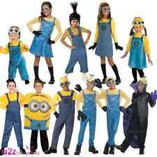 Kids Boys Girls Official Despicable Me Minion Fancy Dress Up Costume Outfit