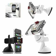 UNIVERSAL WHITE CLIP GRIP CAR SUCTION MOUNT HOLDER FOR VARIOUS MOBILE PHONES